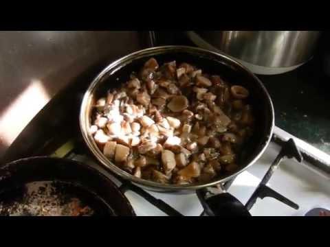 Грибы жареные, быстро, просто, вкусно. Видео. Видеорецепты от бабки (Борисовны)
