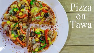 Veg Pizza on Tawa | Pizza Recipe In Hindi Without Yeast