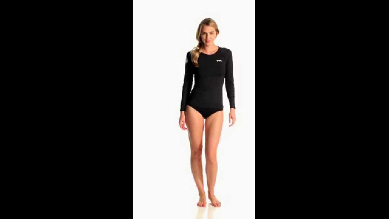 0081ae58 TYR Women's Long Sleeve Swim Shirt | SwimOutlet.com - YouTube