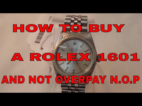 How to buy a Rolex Datejust at a fair price and not over pay N.O.P in 2017