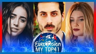 Eurovision 2019 - MY TOP41 with Malta, Armenia & Israel