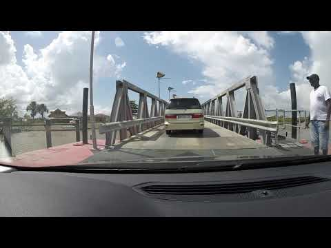 French Guiana, Suriname, Guyana, car ferry crossing at St. Laurent Maroni Tour
