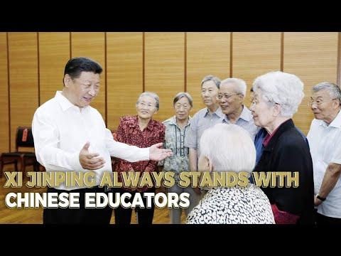 CGTN: Xi Jinping: A role model in respecting teachers...