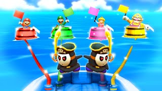Mario Party The Top 100 MiniGames - Mario Vs Peach Vs Luigi Vs Wario (Master Cpu)