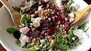 Roasted Beet Salad with Walnuts & Feta