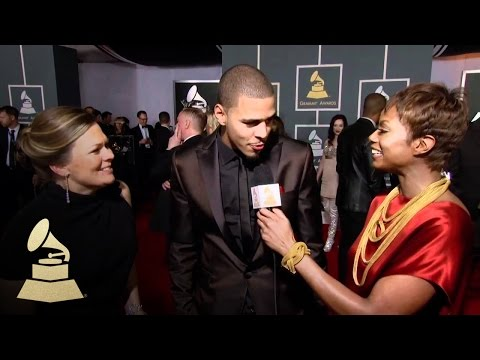 J. Cole on the Red Carpet at 54th GRAMMY Awards | GRAMMYs
