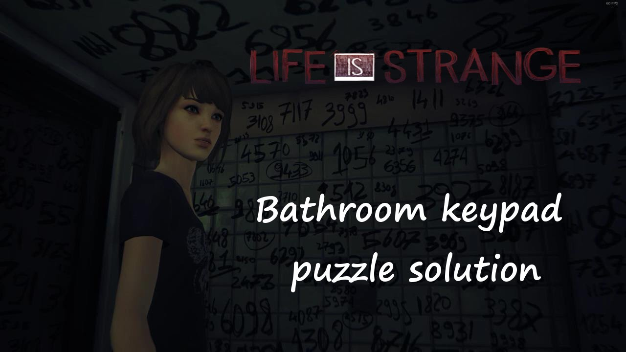 Escape The Bathroom Lock Code life is strange ep5 - bathroom keypad puzzle solution - youtube