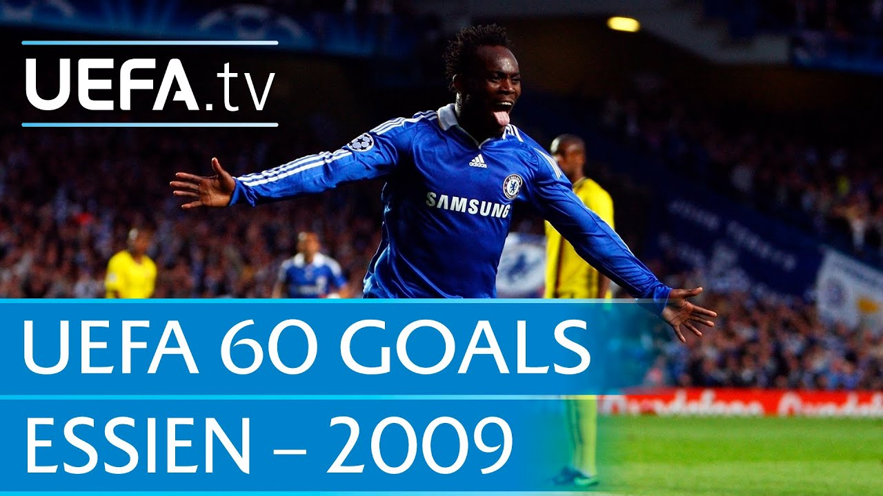 Michael Essien v Barcelona 2009 60 Great UEFA Goals