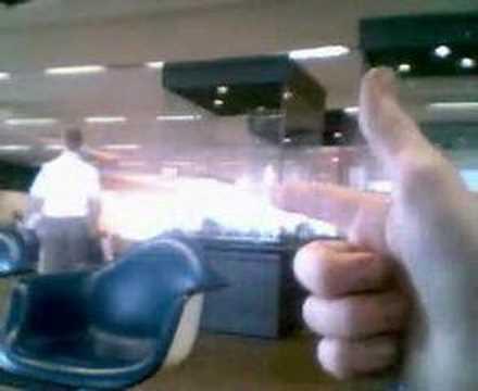 Terrorist laser weapon test