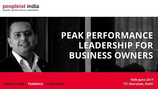 Peopleist Peak Performance Leadership for Business Owners