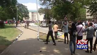 KNUST DEMONSTRATION: Police fire tear gas to disperse crowd. (22-10-18)