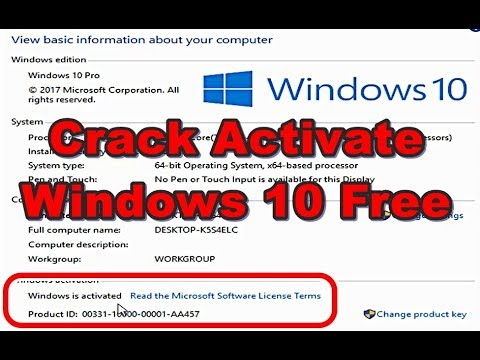 Crack Activate WINDOWS 10 for free all version