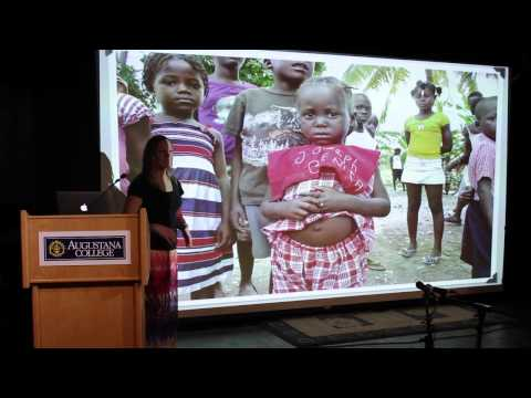 Dr Bosworth speaking about Haiti