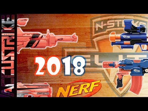 NEW NERF BLASTERS 2018 | Accustrike Rapidstrike, New Stryfe CQ Repaint, and more
