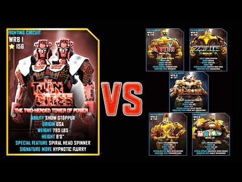 Real Steel WRB FINAL Twin Cities VS GOLD ROBOTS PRO Series of fights NEW ROBOT (Живая Сталь)