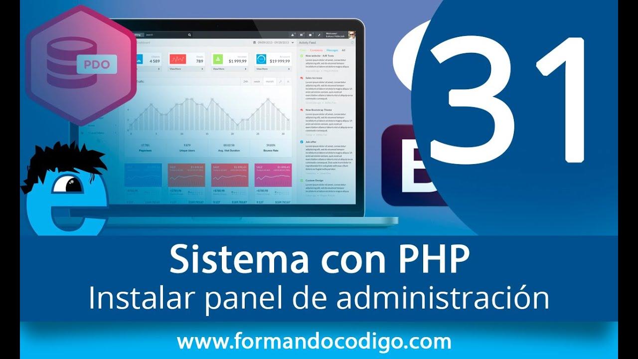 31 - Instalar panel de administración   Sistema con PHP   @cursania ...