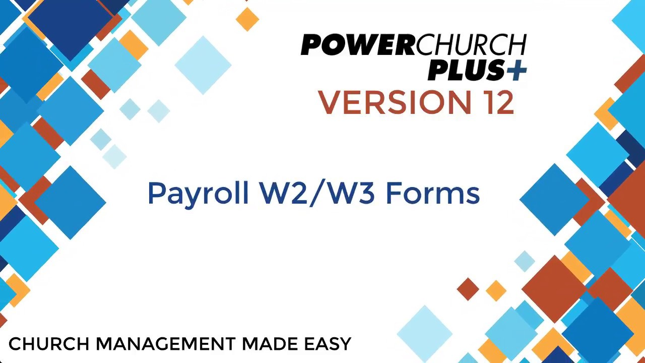 Version 12 - Payroll W2/W3 Forms