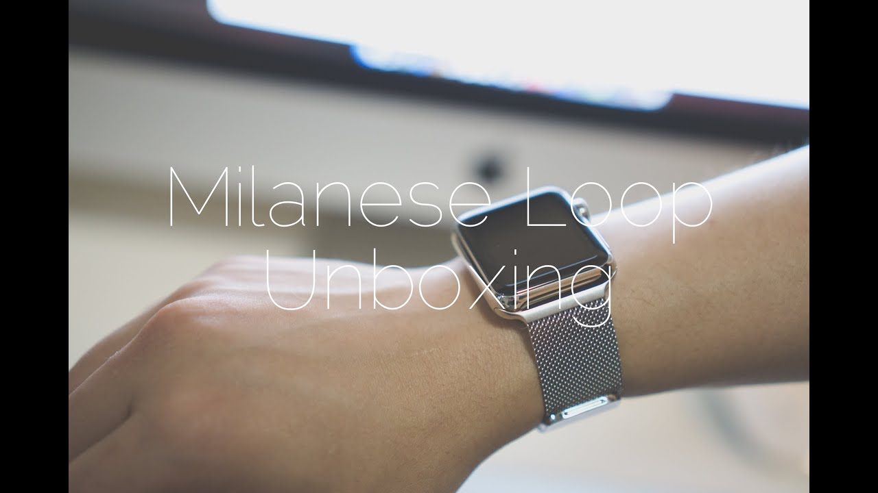 for band space silver result connector pin watch with apple loop milanese leather watches grey image