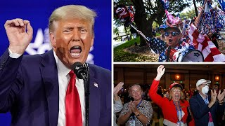 'They aren't going to silence us': Donald Trump supporters flock to Orlando for his CPAC speech