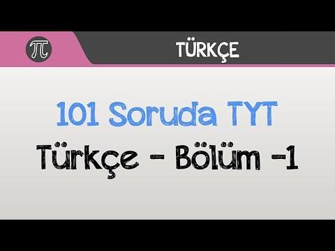 101 Soruda TYT Türkçe - Bölüm -1