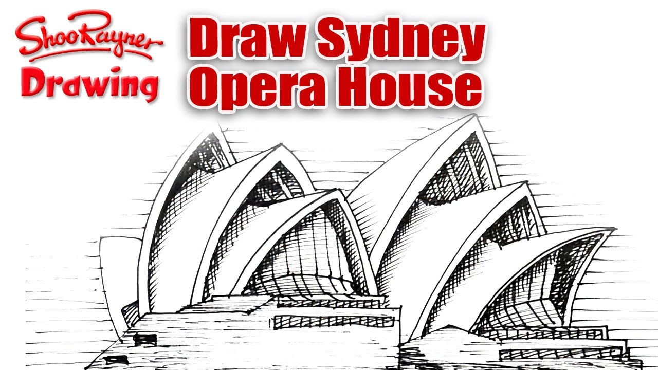 How to draw sydney opera house youtube Draw your house