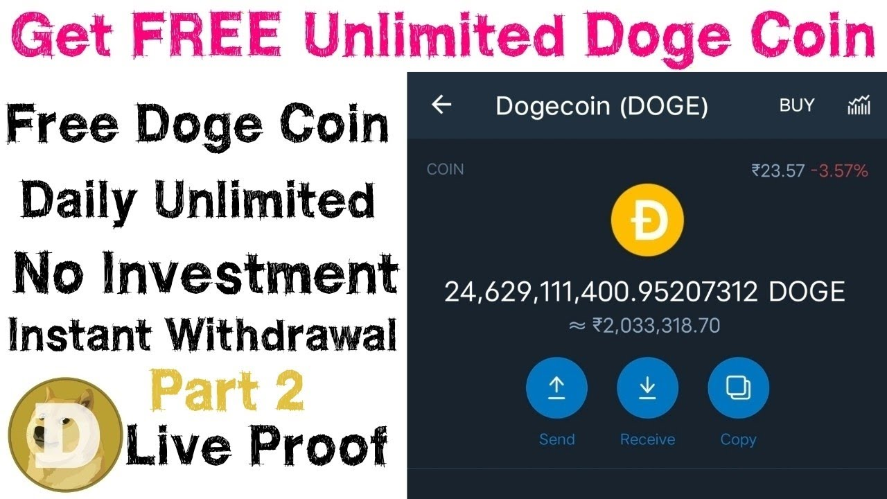 Get FREE Unlimited Doge Coin Daily With Live Payment proof   No investment   Tamil   Part 2
