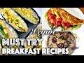 VEGAN BREAKFAST + BRUNCH IDEAS (Weekend Recipes)