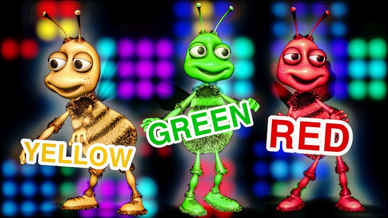 ☆ BEES Finger Family Color Song ☆ LEARN THE COLORS Daddy Finger ...