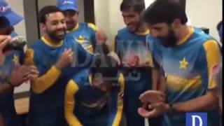 Pakistan Team Celebrates Man-of-The-Match Asad Shafiq's Test century
