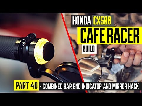 Having purchased both the bar end mirror and indicator / turn signal separately for the Honda CX500 cafe racer project and liked them both I had to think of a ...