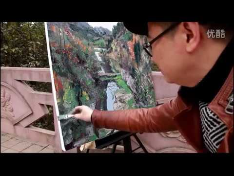 Landscape Painting  by Meng Tao artist