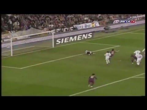 Ronaldinho goal (standing ovation) Real Madrid 0 3 Barcelona (El Clasico) 2005