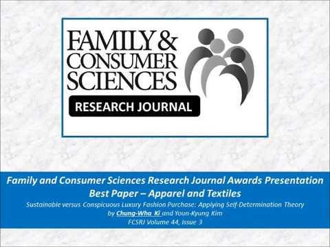 FCSRJ 2016 Best Paper - Apparel and Textiles
