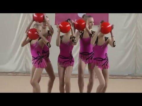 """Групповые упражнения (5 мячей) Художественная гимнастика. Первенство ФСО """"Спартак"""""""