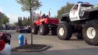 Монстер трек шоу в нашем городке!! Monster Truck!
