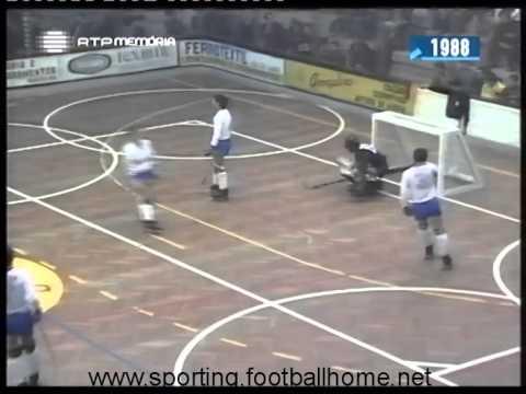 Hoquei Patins :: O.Barcelos - 5 x Sporting - 3 de 1988/1989