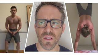 Watch Ryan Reynolds SHUT DOWN Tom Holland and Jake Gyllenhaal's Shirtless Handstand Challenge