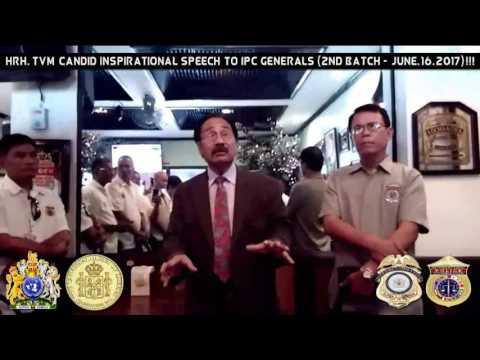 HRH TVM Inspirational Speech to INTERPOLCOM Generals (2nd Batch)