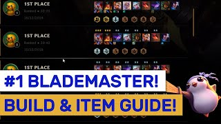 #1 META RANK UP BUILD! BEST Blademaster Blender Guide!   TFT   Teamfight Tactics