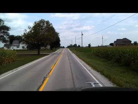 Ohio State Route 119 Eastbound as we roll through Anna, Ohio heading towards Interstate 75