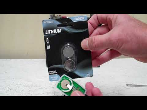 How to replace the battery in our remote control units