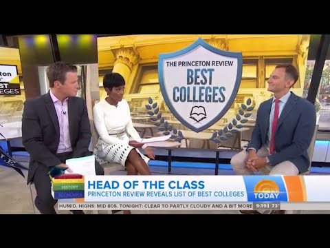 """NBC """"TODAY"""" - Best colleges for financial aid, quality of life, more"""