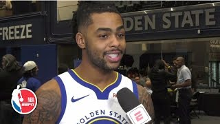 D'Angelo Russell called his dad after his first practice with Steph Curry | 2019 NBA Media Day