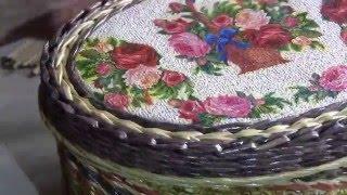 Школа мастерства с Натальей Сорокиной.  Плетём послойный узор верёвочкой.