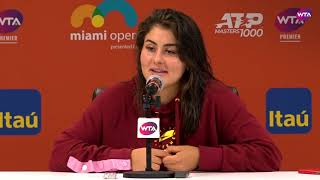 Bianca Andreescu | Miami Open 2019 Fourth Round | Press Conference