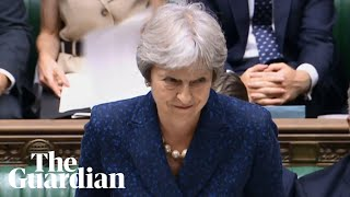 Laughter in Commons as Theresa May pays tribute to Boris Johnson's 'passion'