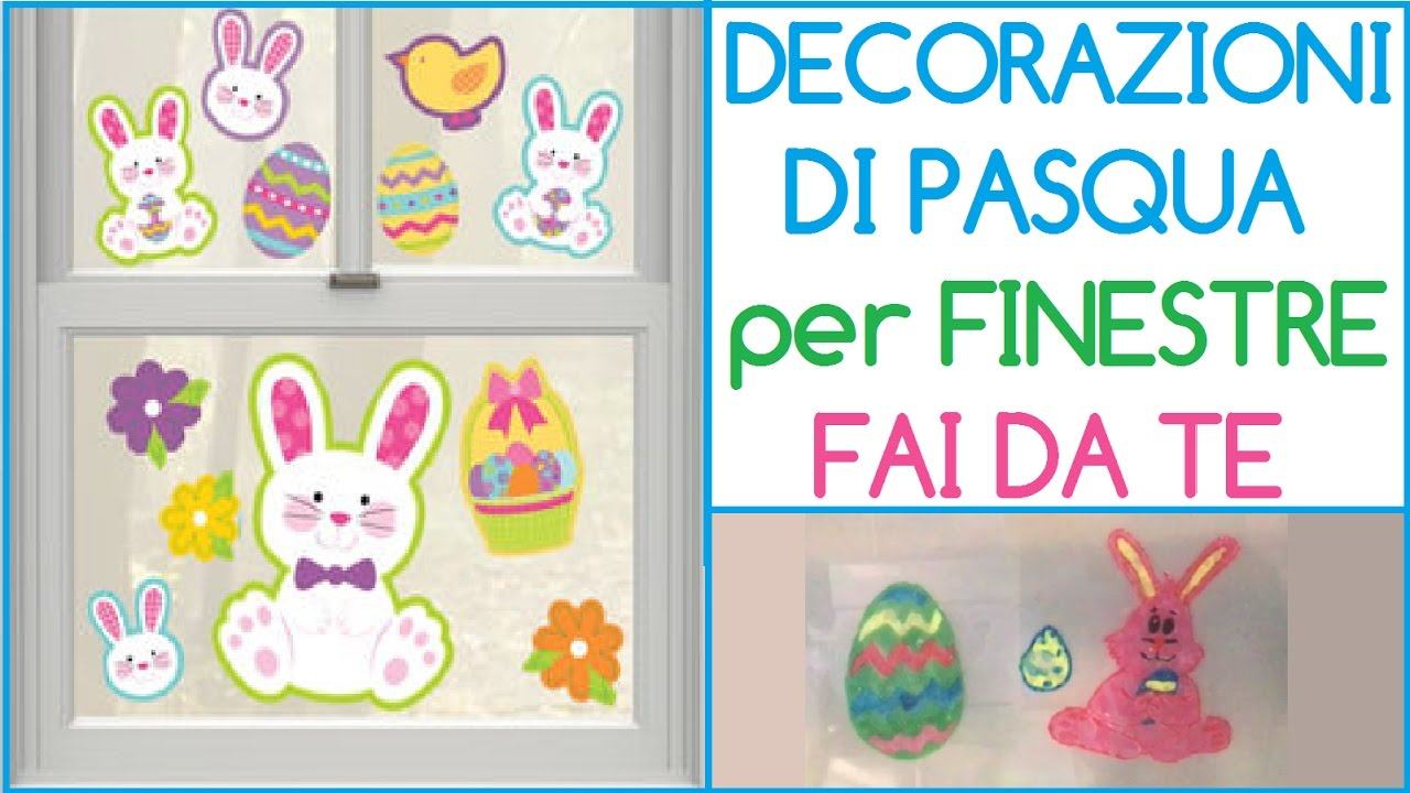 Decorazioni di pasqua per finestre fai da te come fare for Inferriate per finestre fai da te