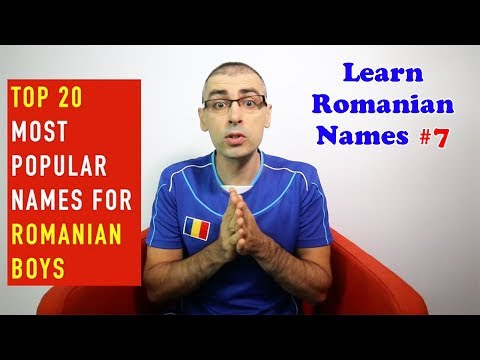TOP 20 MOST POPULAR NAMES FOR ROMANIAN BOYS | Learn Romanian Names #7