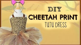 Animal Print Tutu DIY - Cheetah