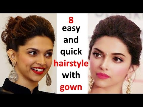 8 easy $ beautiful hairstyles with gown || new hairstyle for girls || ladies hair style || hairstyle